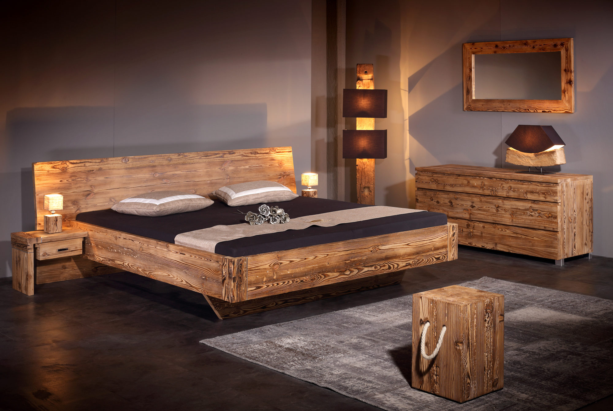 betten altholz wohn design. Black Bedroom Furniture Sets. Home Design Ideas