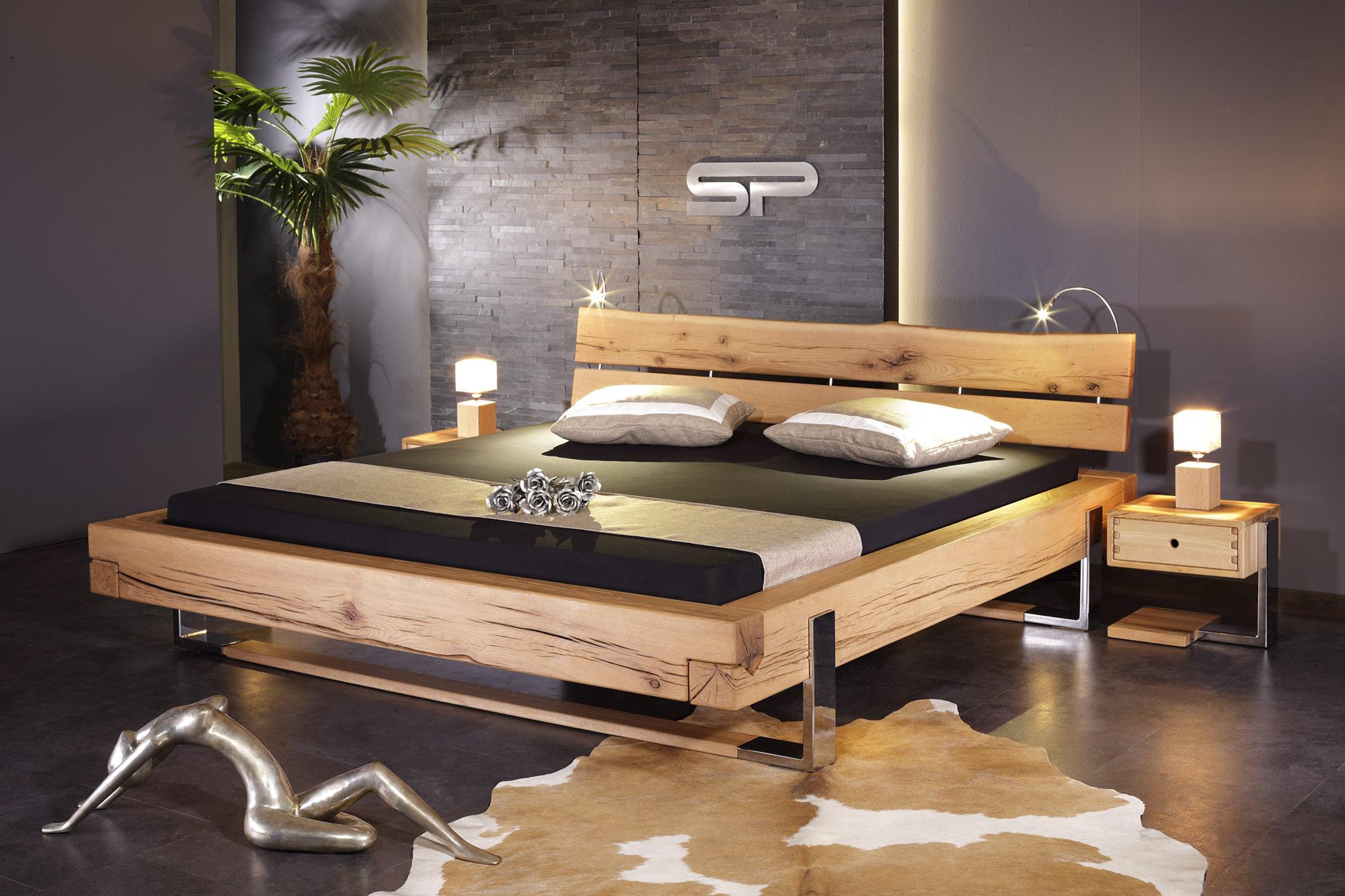 Kufen Balken Bett Sumpfeiche Sprenger Möbel