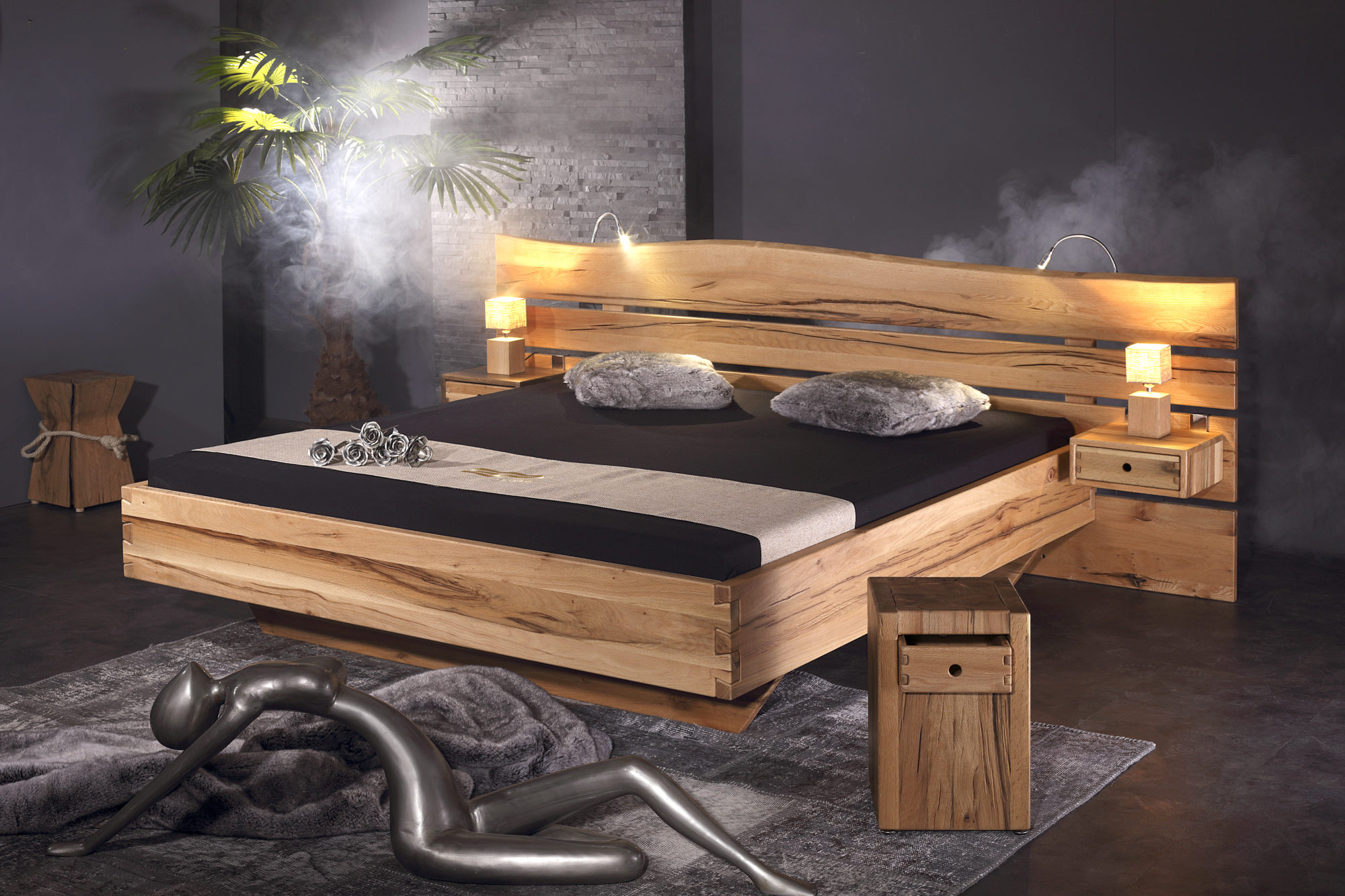 bett rosenheim sumpfeiche sprenger m bel. Black Bedroom Furniture Sets. Home Design Ideas