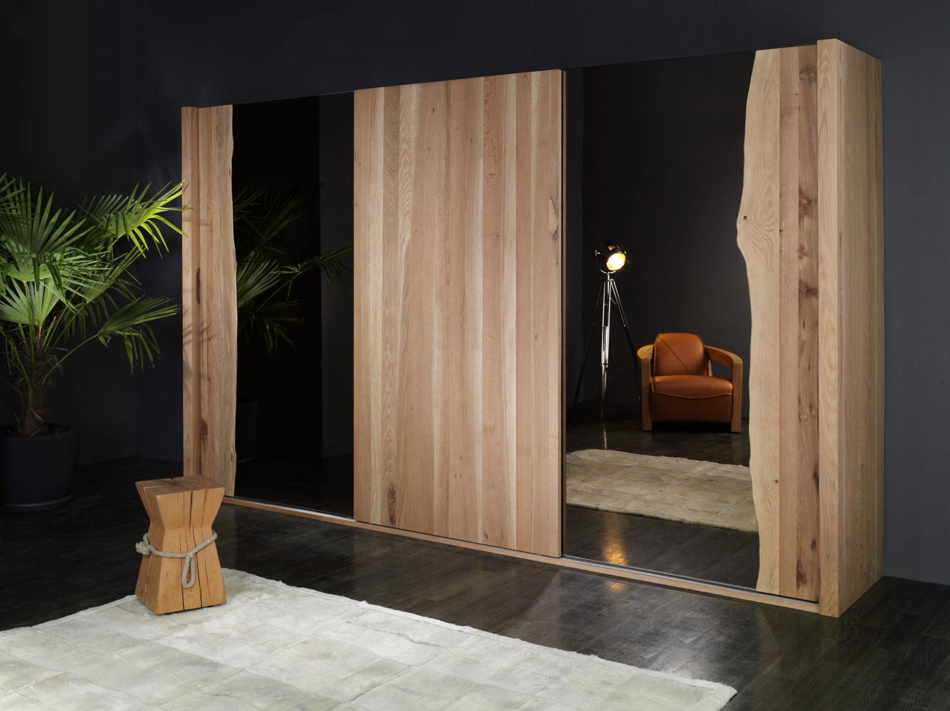 schwebet renschrank 3 t rig spiegel bronze sumpfeiche sprenger m bel. Black Bedroom Furniture Sets. Home Design Ideas
