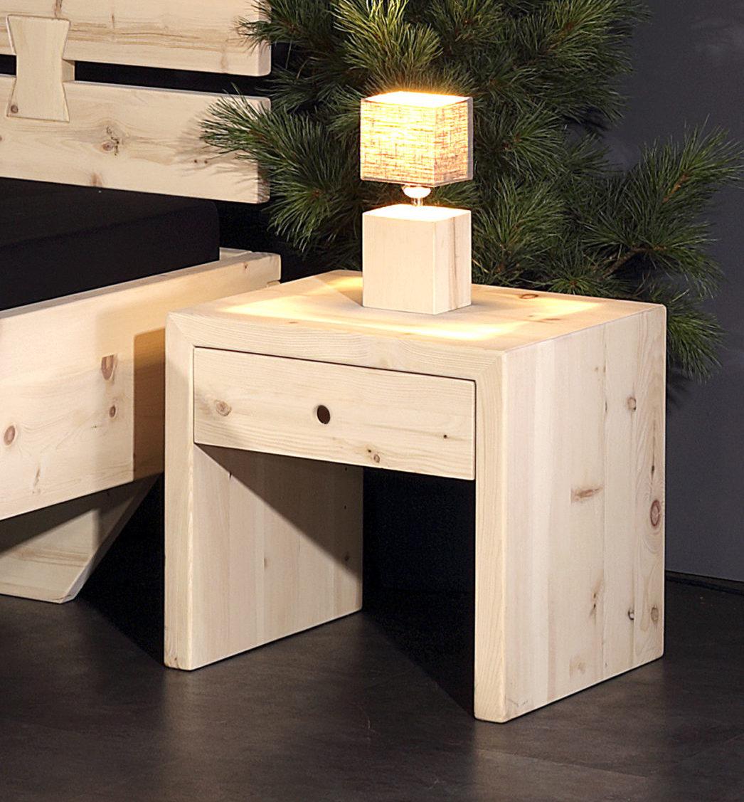 beistelltisch mittel mit schublade arve zirbe sprenger. Black Bedroom Furniture Sets. Home Design Ideas