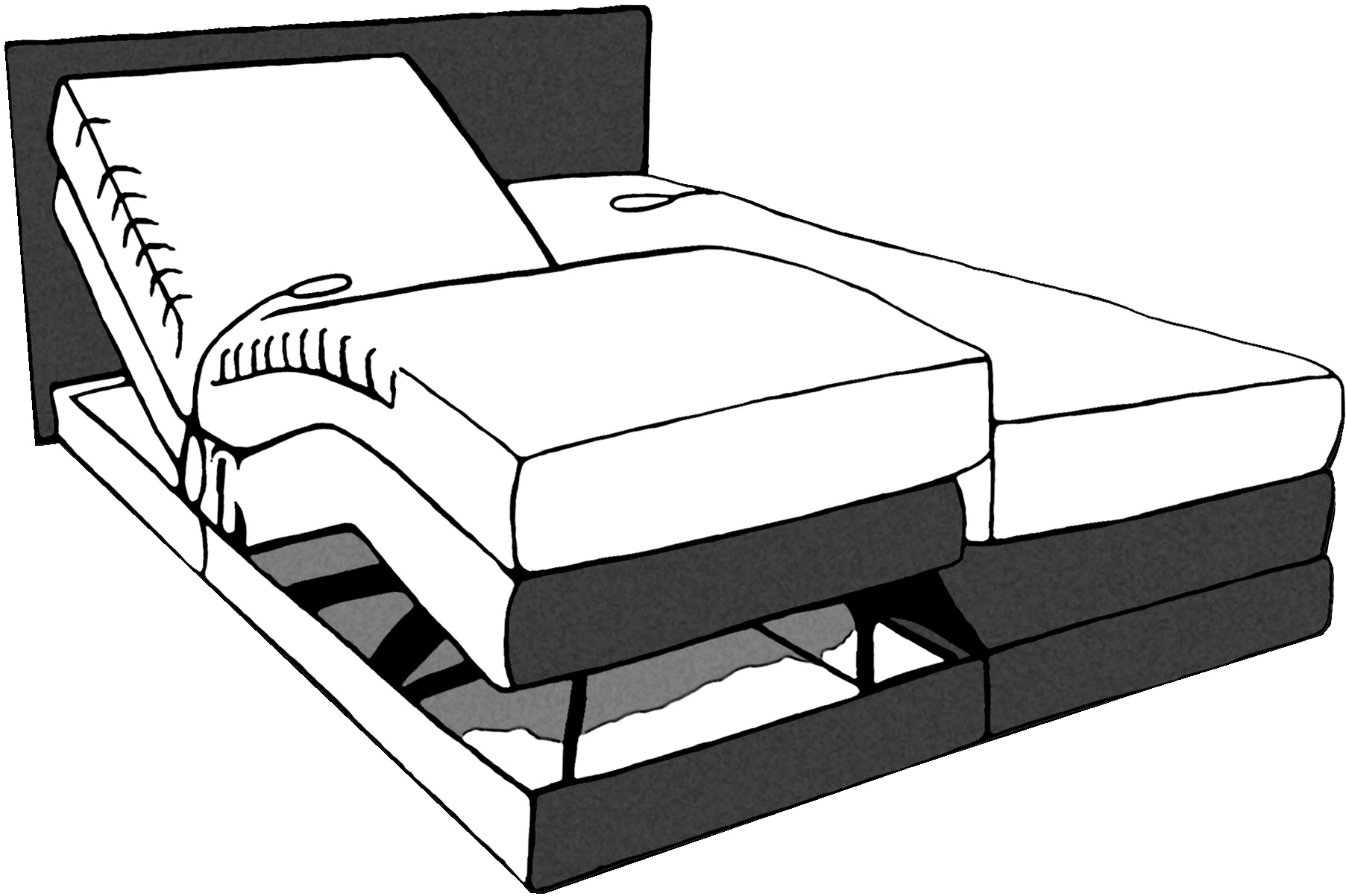 Boxspring - Kopfteil Dorma mit Lackrahmen - Sprenger Möbel